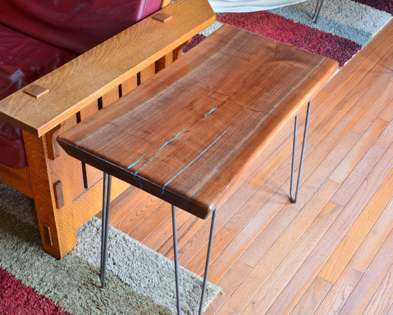 Handmade Natural Edge Black Walnut End Table