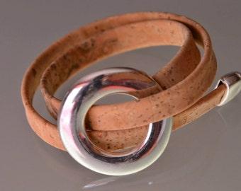 Cork Moon Bracelet
