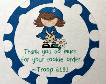 Girl Scout Thank you stickers
