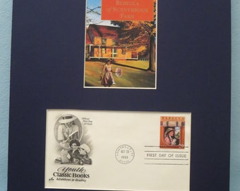 """Honoring the Great Novel - """"Rebecca of Sunnybrook Farm"""" written by Kate Douglas Wiggin and First Day Cover of its own stamp"""