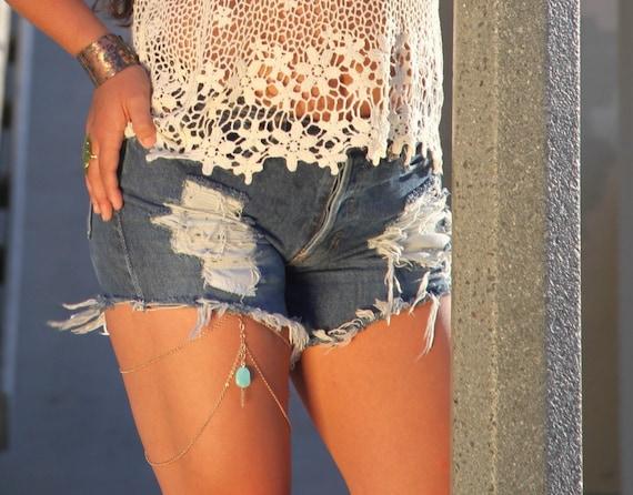 Leg Chain - Body Jewelry