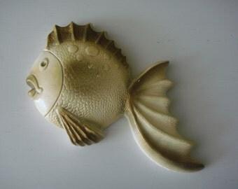 Vintage Chalkware Fish - Favor Ind.