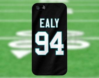 Kony Ealy - Carolina Panthers Case: iPhone 4/4S, 5/5S, 5C, 6/6S, 6+/6S+ / Samsung Galaxy S3, S4, S5