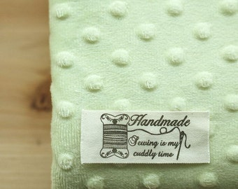 Soft Minky Dimple Dot Fabric - Lime Green