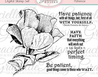 Patience Digital Stamp Set