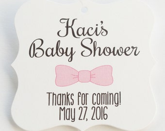 Baby Shower Tags, Sweet Baby Shower Favor Tags, Baby Shower Hang Tags  (FS-88)