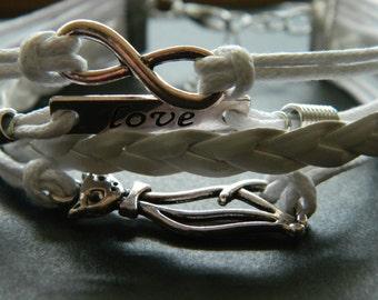 White LOVE bracelet