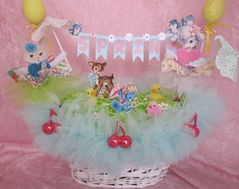 Spring Easter Basket Centerpiece
