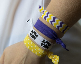 ECU Hair Ties, Elastic Hair Ties, East Carolina, ECU Pirates, Chevron, Pirates, Purple and Gold, Purple and Gold, Game Day, GameDay