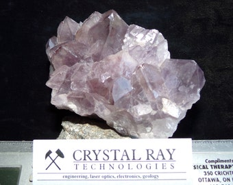 Zoned Amethyst crystal from Thunder Bay Ontario