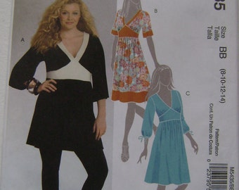 OUT of PRINT McCall's Pattern M5435 Misses' and Women's Tunic and Dresses