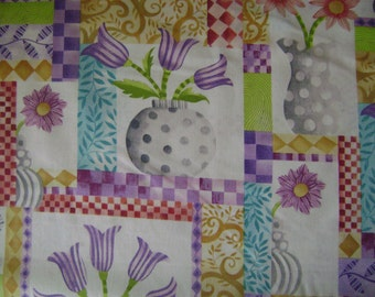 Vase Patch Cotton Fabric by the yard