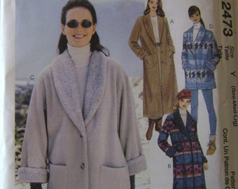 OUT of PRINT McCall's Pattern M2473 Misses' Unlined Coat or Jacket