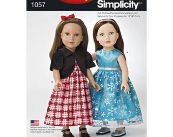OUT of PRINT Simplicity Pattern 1057 It's So Easy 18 inch Doll Clothes