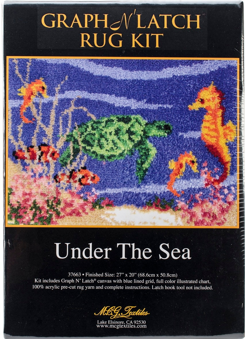 under the sea latch hook rug kit. Black Bedroom Furniture Sets. Home Design Ideas