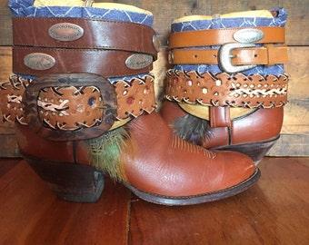 TONY LAMA upcycled western cowboy boots women's size 11