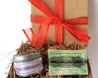 Natural Bath Gift Set, Spa Gift Set, All Natural Gift Set, Body Butter Gift Set