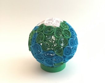 3D Paper Quilled Earth