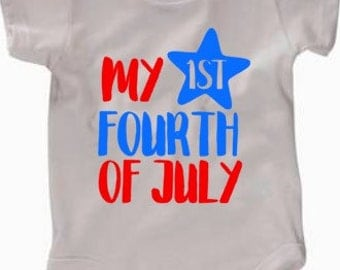 My First Fourth of july shirt, red white and blue shirt, boys fourth of July shirt, patriotic shirt