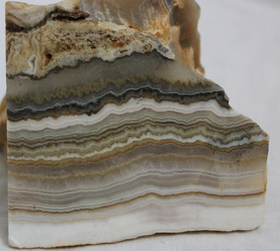 Yellow Onyx Slab For Lapidary : Inches silver layers onyx slab for