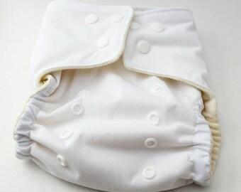 Cloth Diaper, White Cloth Diaper, Hemp Diaper, Waterproof Cloth Diaper