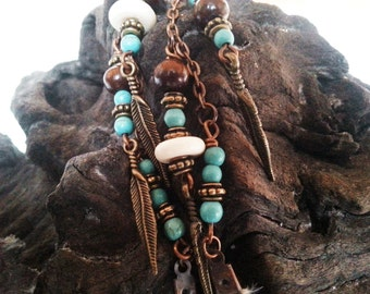 Honnoring Native Spirit Tribal Indian Native Shaman Bone Necklace