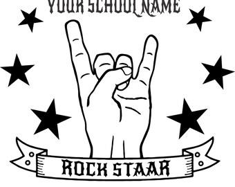 Staar Texas Rock Staar Shirt Hand Custom with your school's name