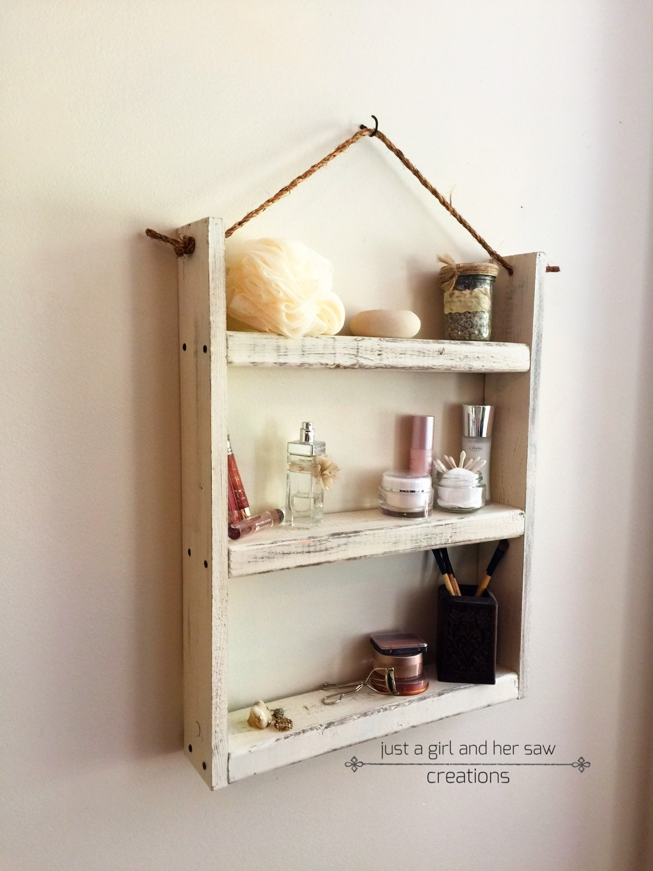 Model Hanging Shelf  Kitchen  Bath  Spice Rack  Paris Apartment  Shabby