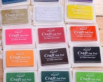 Craft Oil Based DIY Ink Pad Rubber Stamps Fabric Wood Paper Scrapbooking 17 Colors to choose Inkpad Finger Paint