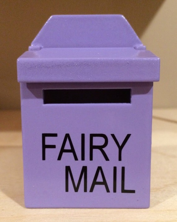 New wooden fairy mailbox comes in 10 colors by 15monkeys for Little fairy mailbox