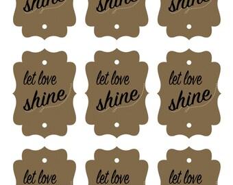 Let Love Shine Printable Sparkler Tag