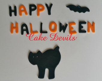 happy halloween black cat cake decorations fondant cat fall cake decorations fondant letters