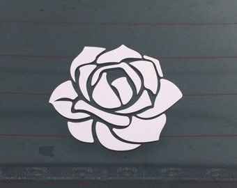 Flower Car Decal Vinyl Car Decal Rose Car Decal Car Vinyl Decal Car Window Decal Rose Decal Car Decal Flower Car Flower Decal