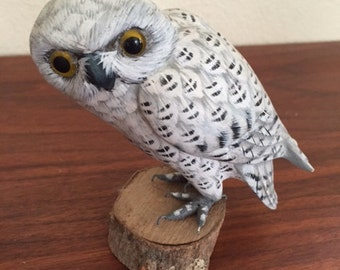 VIntage Hand-Carved and Painted Owl
