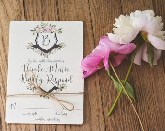 FLORAL|Wedding Invitation Set #73