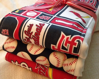 Burp cloths, baseball, St. Louis Cardinals, red birds