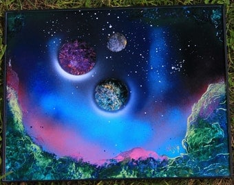 space painting spray paint art