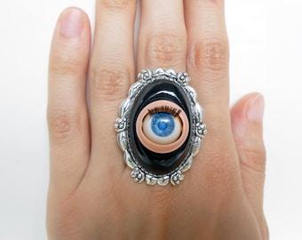 "Ring eye doll flashing ""Gaïa"""