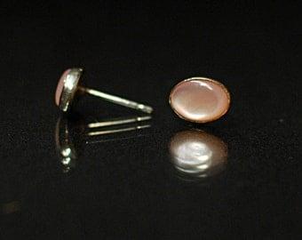 Mother-of-Pearl Stud Earrings
