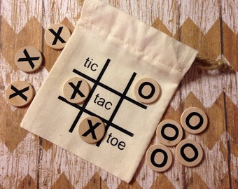 Tic Tac Toe Travel Game - Kids Game - Party Favor - Gifts Under 10