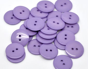 Pack of 25 Purple Resin Buttons 23mm.  Sewing Knitting Scrapbook and other craft projects