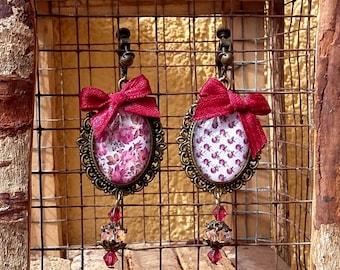 Cabochon Flower Earrings