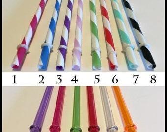 Choose 2- Acrylic Straws, Mason Jar Straws, Party Straws, Tumbler Straws, Striped Straws, Plastic Straws, Hard Plastic Straws, Swirly Straws