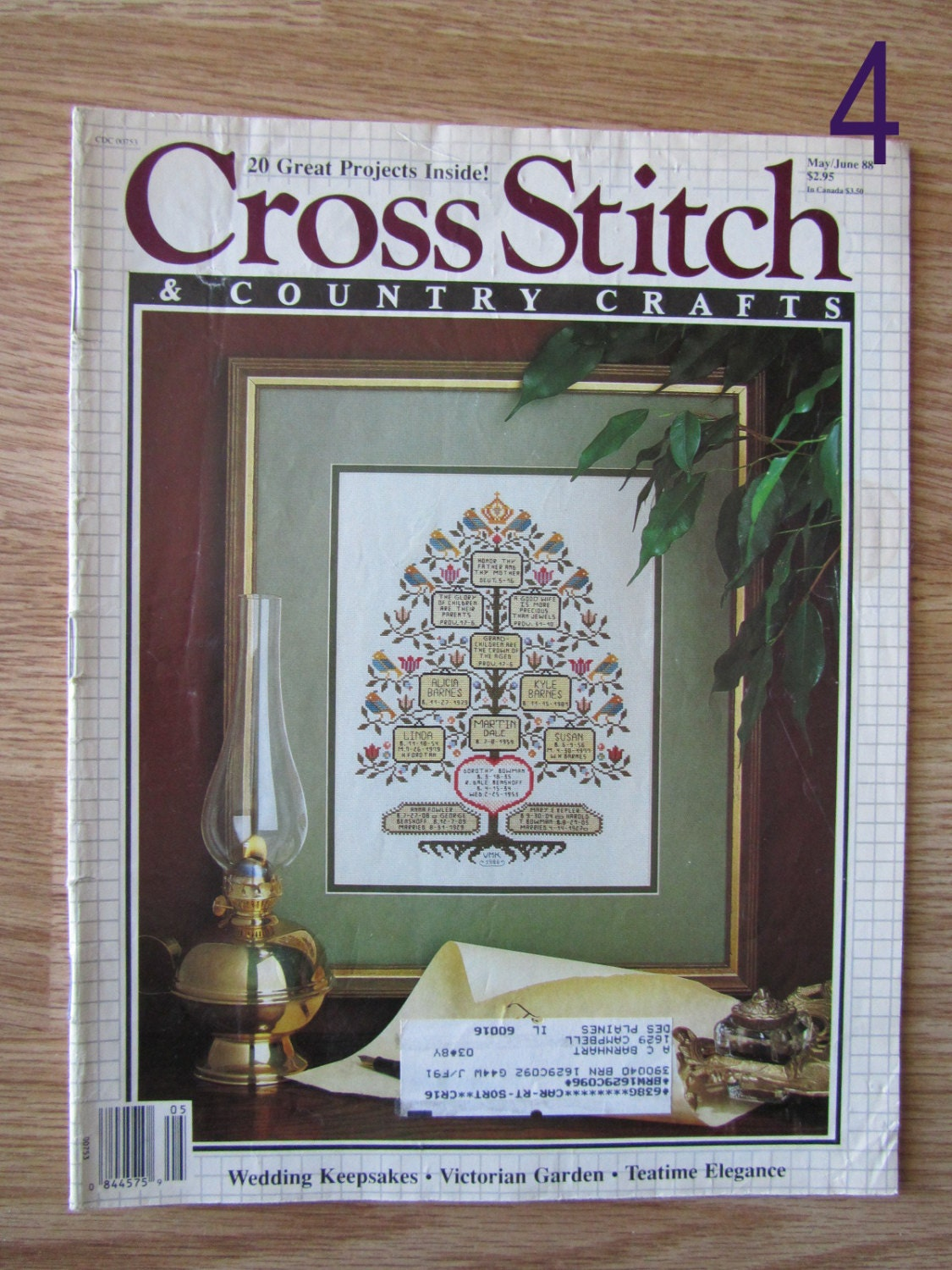 Cross stitch country crafts magazine back issues -  5 00
