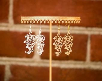 The Viviette Earrings (Filigree and butterflies)
