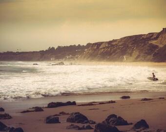 Ocean Art Beach Print Ocean Photography Ocean Waves Surfing Surfer Art Print Crystal Cove Laguna Beach California Coast