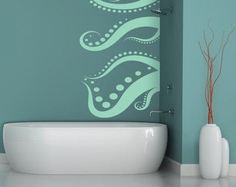 Octopus Decal Vinyl Wall Decal, Home Decor