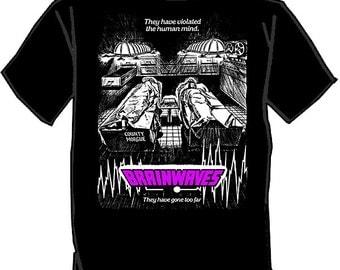 BRAINWAVES silk screened t-shirt Horror