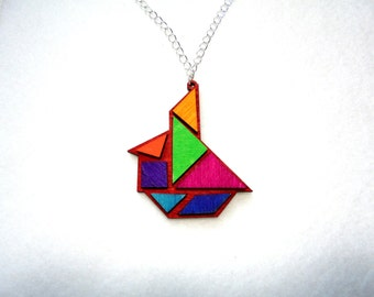 Chain, tangram, sailboat (380)