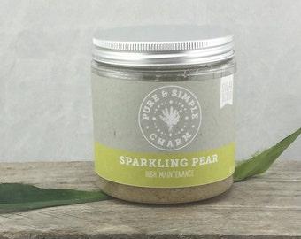 Sparkling Pear Sugar Scrub, Pear Sugar Scrub, Sugar Scrub, Body Scrub, Body Polish, Exfoliating Body Scrub, Sparkling Wine